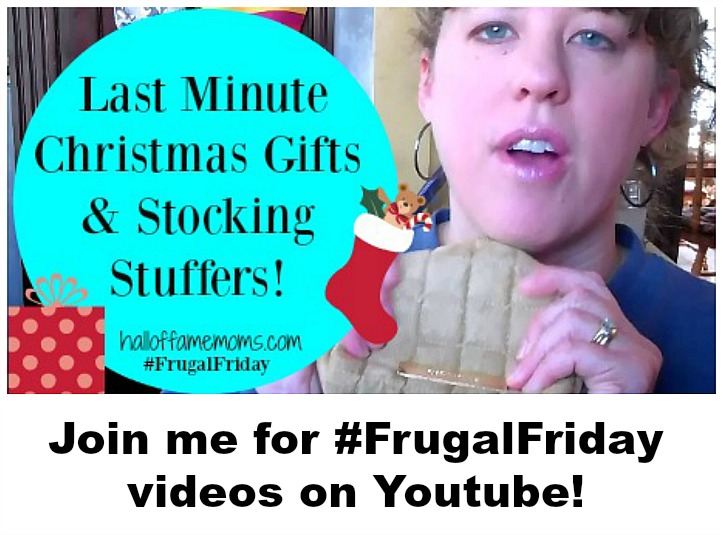 Join me for Frugal Friday videos on Youtube – here's the first one! (FF1)