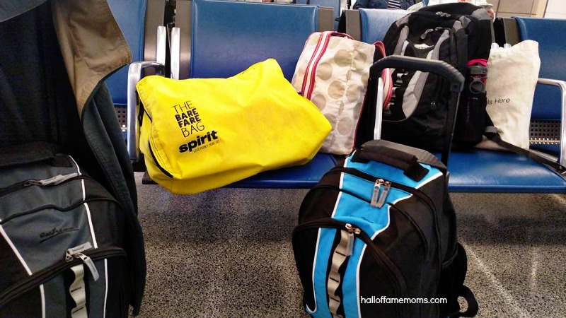 Spirit Airlines' Bare Fare Bag and carryon bags