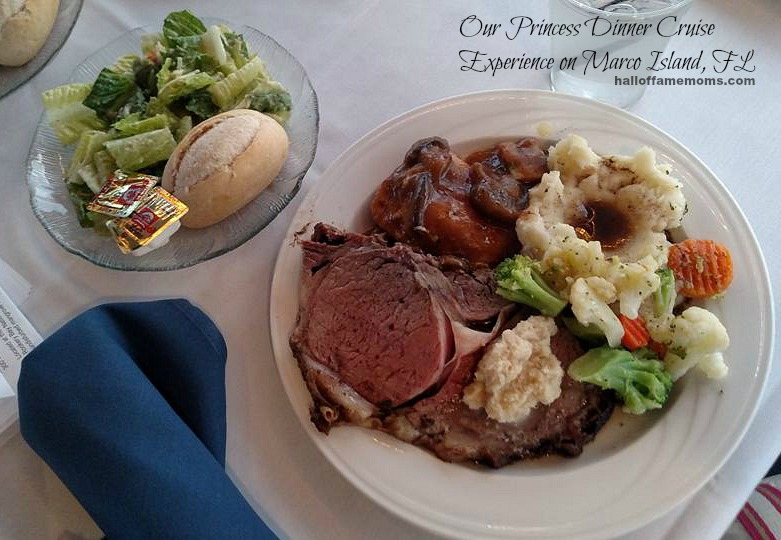 We enjoyed a delicious dinner on the Princess Dinner Cruise...read more here.