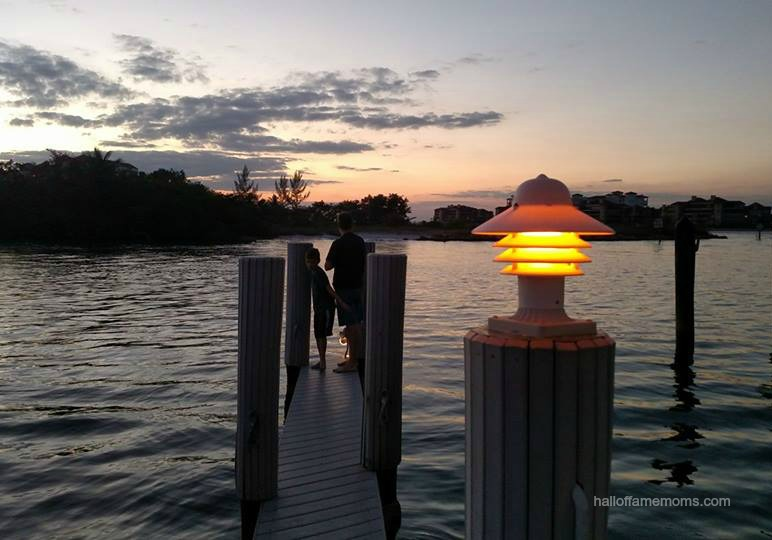 Enjoying a gorgeous sunset on the dock at The Boathouse Motel, Marco Island, Florida