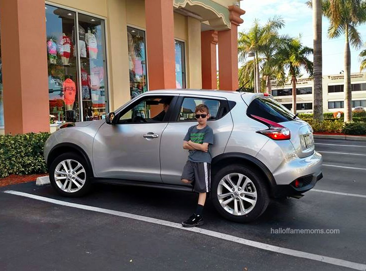 Riding our Nissan Juke Enterprise Rental Car in SW Florida.