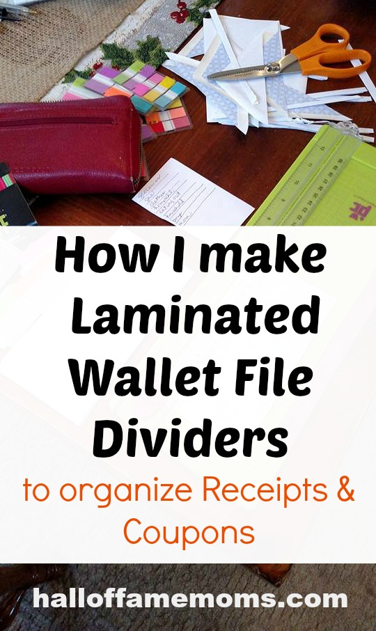 Make Your Own Wallet File Dividers