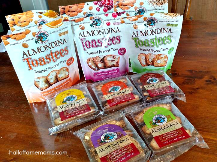 Enter to win a $40+ Almondina Prize Package and taste their NEW Toastees!
