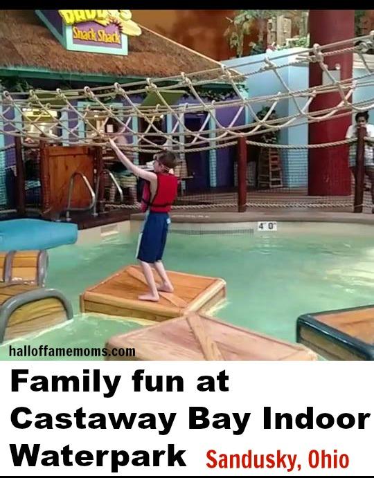 Enjoying Castaway Bay's Indoor Waterpark, Sandusky, Ohio.