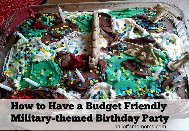 Save money making your own Military themed birthday cake.