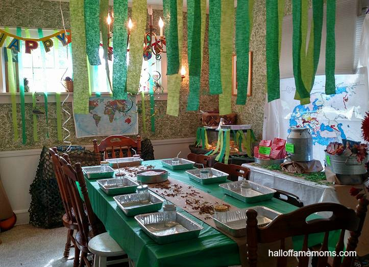 Budget Friendly Military Themed Birthday Party