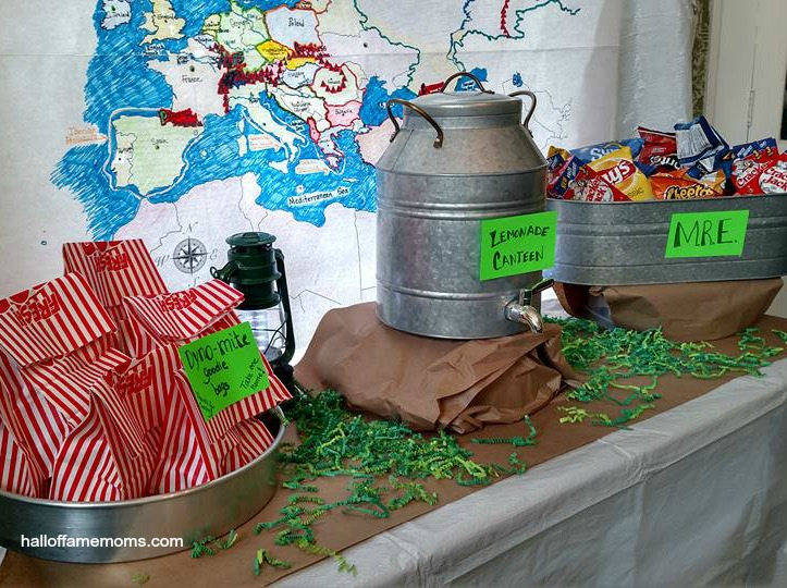 A Budget Friendly Military Themed Birthday Party