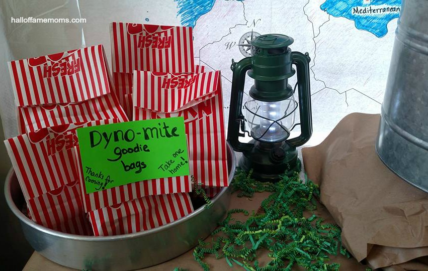 Budget Friendly Military Themed Birthday Party: Dynomite Goodie Bags
