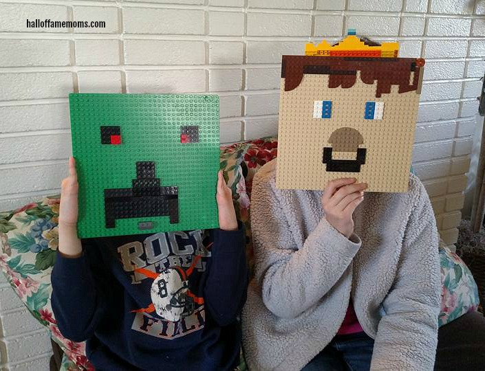 Picture Tour of our Homeschool Lego Club - Minecraft Faces