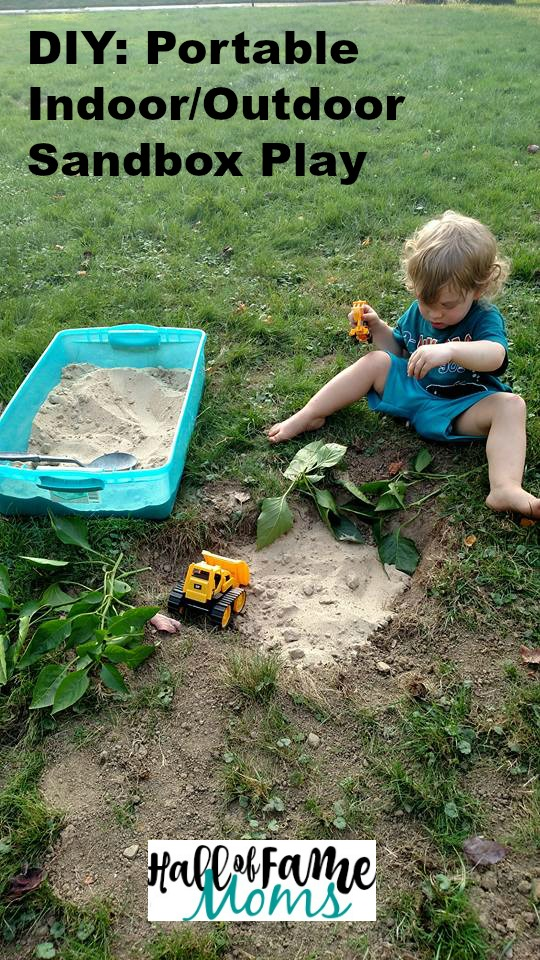 DIY CHEAP, EASY Portable Sandbox for Traveling or Indoors