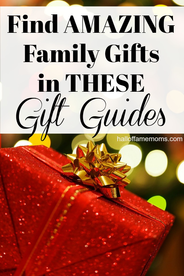 Find AMAZING Gifts for Family with these GIFT GUIDES
