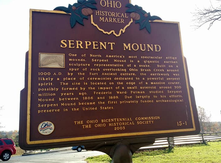 Visiting Serpent Mound in Peebles, Ohio