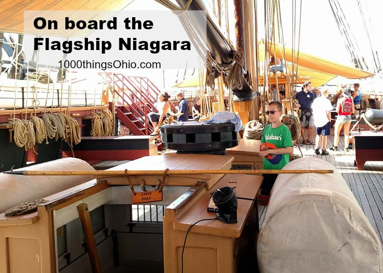 Touring aboard the Flagship Niagara at Put-In-Bay (Tall Ships)