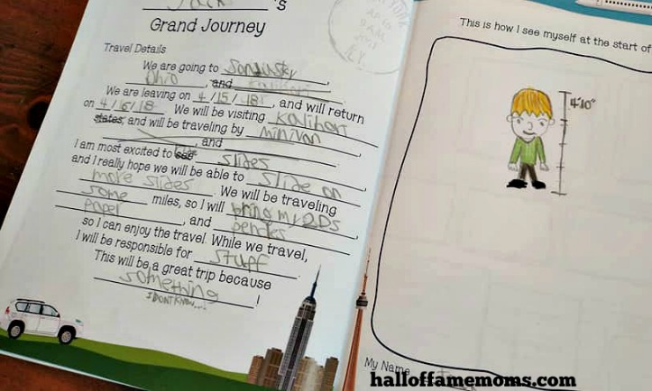 My Family Adventure Journal review – kids travel diary