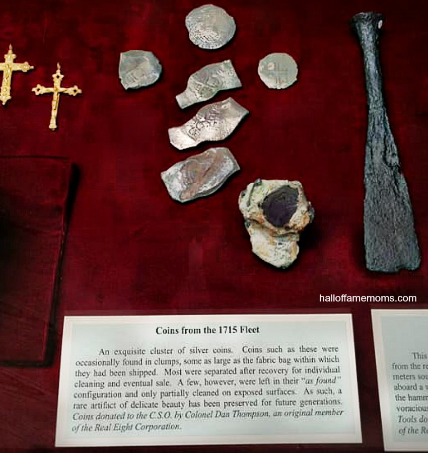 Relics, coins from 1715 Fleet ships near Vero Beach, Florida