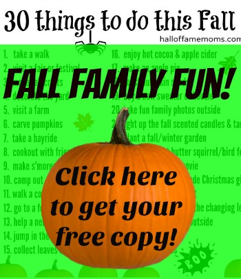 30 Things to do this Fall for Families - free printable.