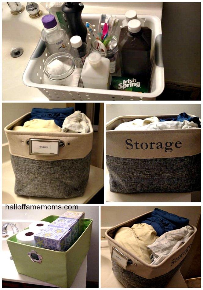 Bins for Linen Closet Organization