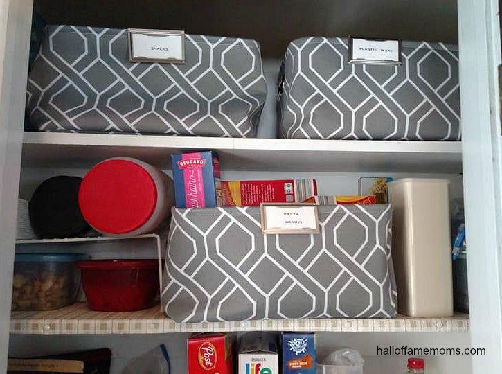 My simple small food pantry organization