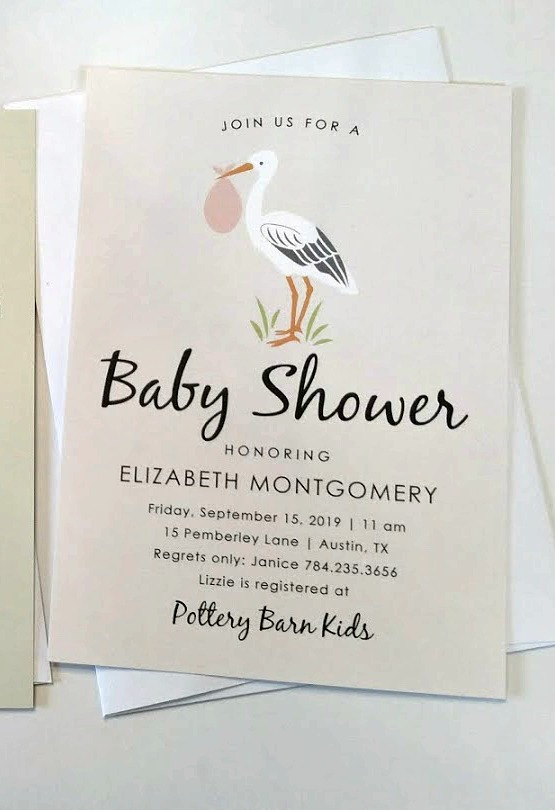 Baby Shower Invites as Keepsakes (ad)