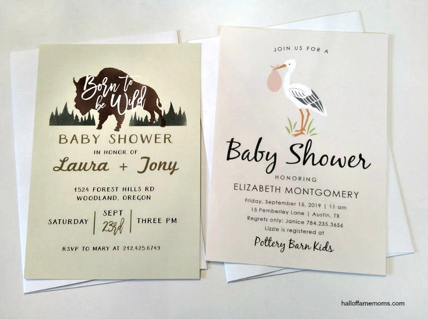 Basic Invite offers amazing customizable baby shower invitations (ad)