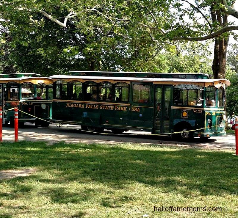NY Niagara Falls State Park trolley