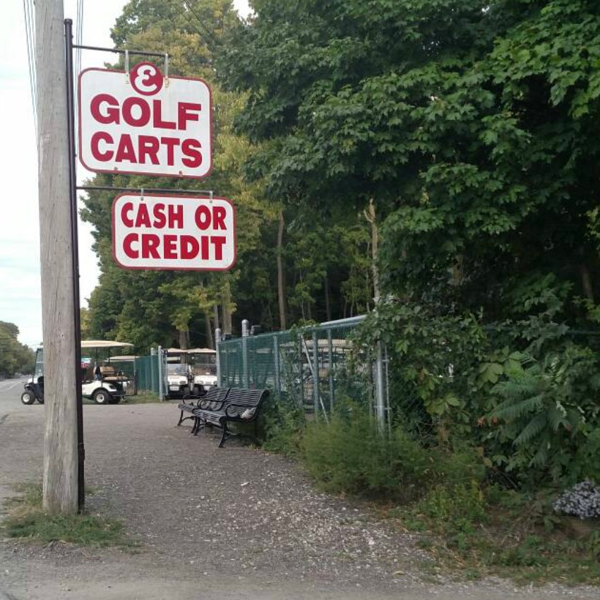 Rent a golf cart on Put-in-Bay at E's Golf Carts. Lake Erie, Ohio