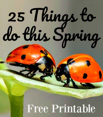 Fun things to do in Spring Free Printable