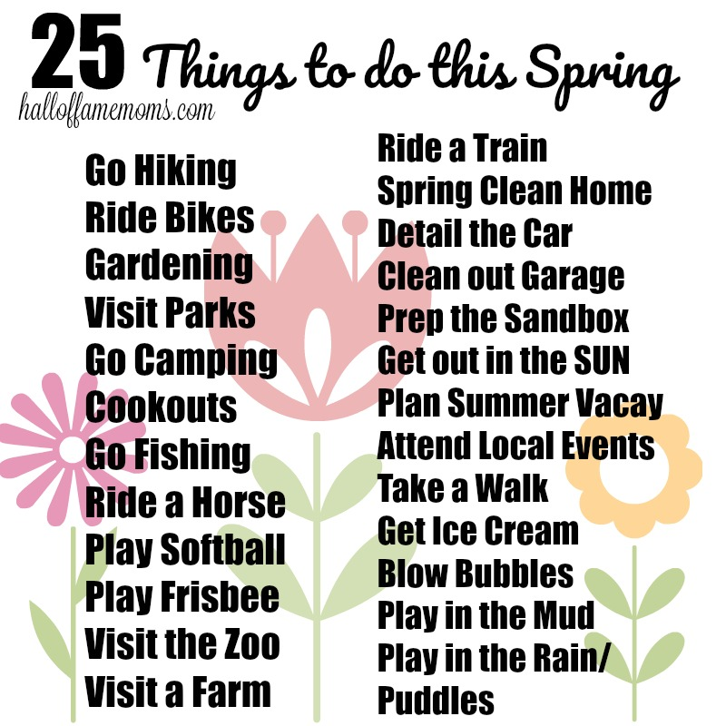 25 Things to do during Spring - print this free spring guide to how to have fun this spring