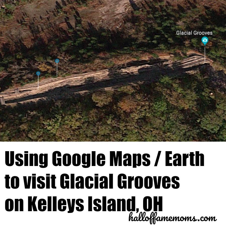 Use Google Maps, Google Earth to visit historic landmarks like Glacial Grooves on Kelleys Island, Ohio.
