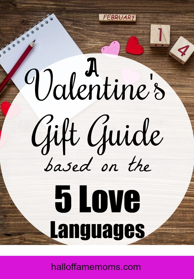 A Valentine's Day Gift Guide based on the Five Love Languages for couples, children and singles.