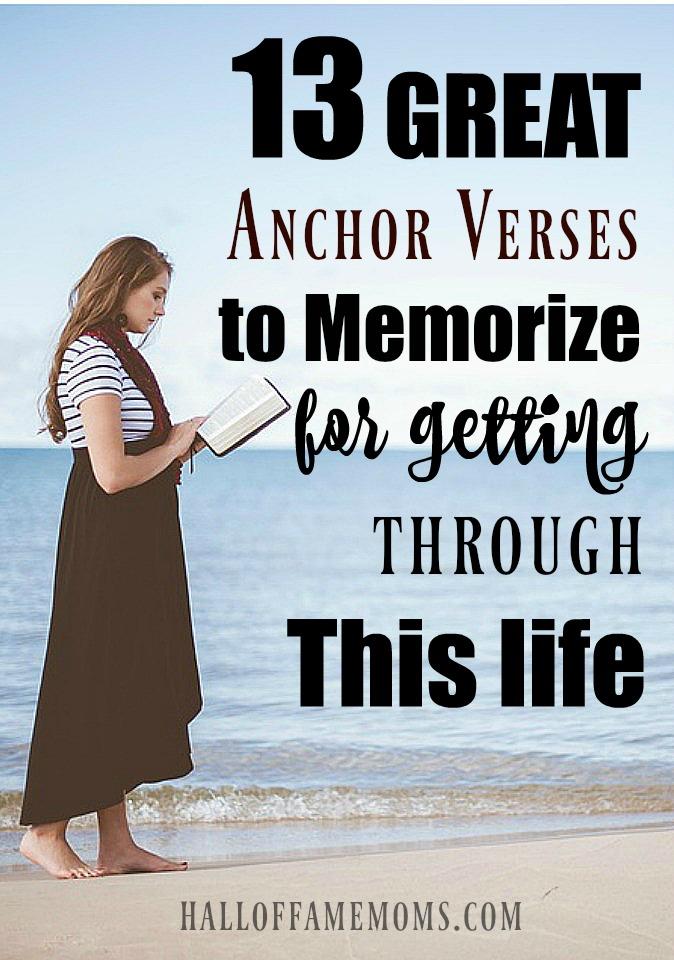 Great scripture verses for struggles in life. Anchor verses. KJV