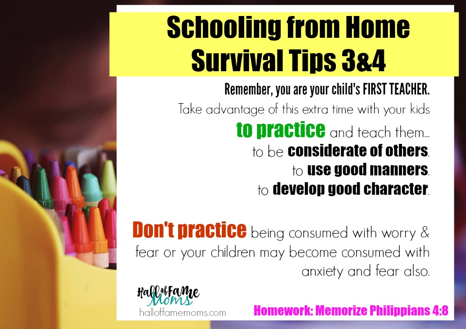 schooling from home tips to avoid mom guilt