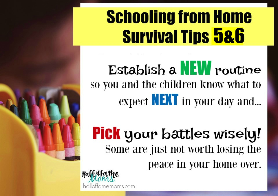 establish a new routine when your kids are home - survive this virus crisis