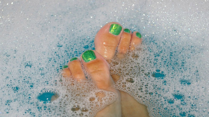 Relaxing in the bath was one of many ways women said they deal with stress. Find 24 Ways to Relieve Stress in this post.