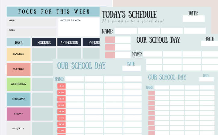 Free Printable Daily, Weekly Focus Planner Pages