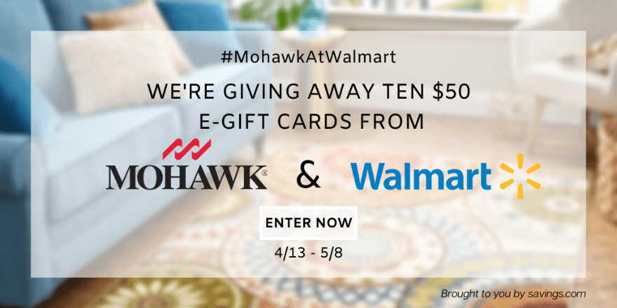 fifty dollar value giveaway #MohawkAtWalmart