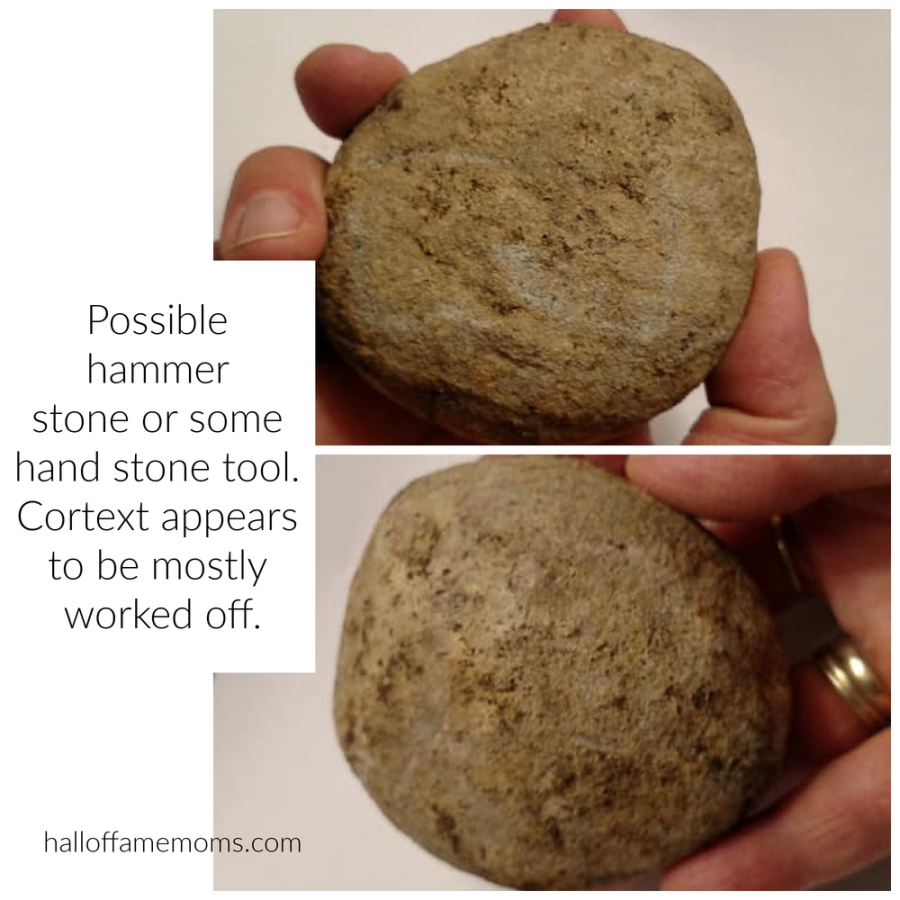 Possible Native American  Hammerstone or hand stone with most cortex worked off found in NE Ohio.